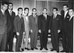 1964-NIOC colleagues, Tehran