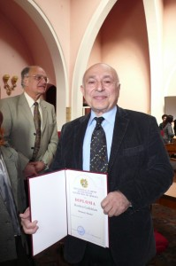 2008-Getting Honourary Doctorate from the Academy of Sciences, Yerevan