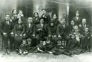 My Great Grandfather with his sons and their families in  Yerevan, 1923.