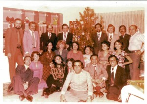 New Year 1976 in Tehran, with some Iranian friends