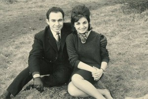 With my future wife, Mariette in Hyde Park, 1961.